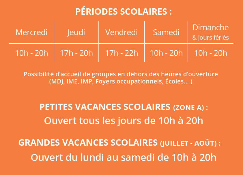 horaire thepeak avril2019
